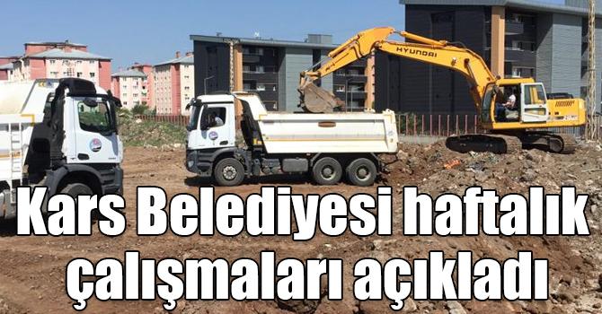 Kars Belediyesi Haftalik Calismalari Acikladi